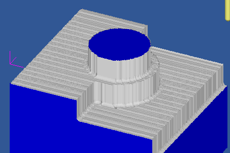Cut Simulation of Flat Roughing