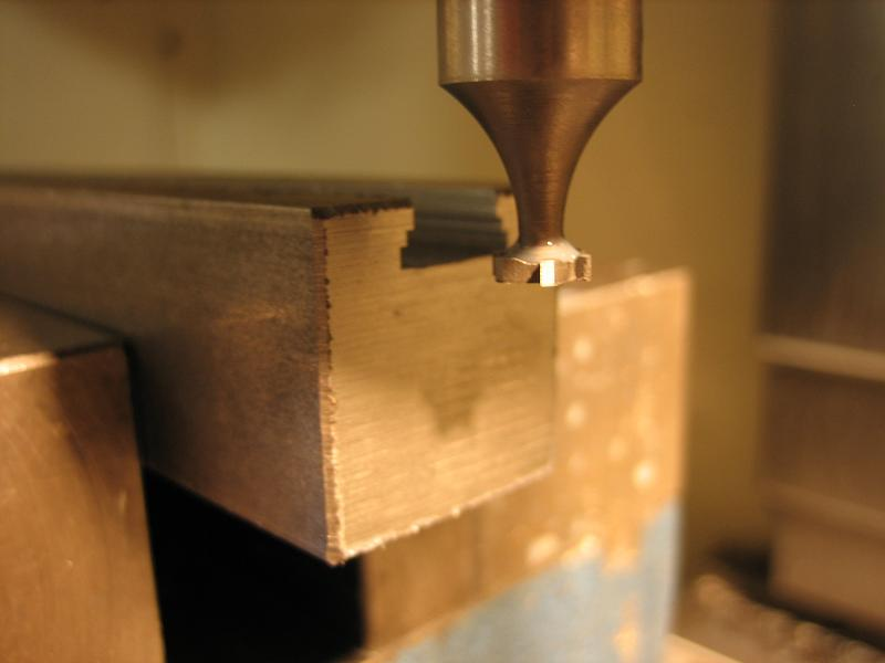 Step profiling a dovetail slot