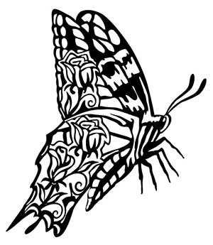 free dxf file butterfly