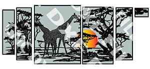 free dxf file giraffe panel scene