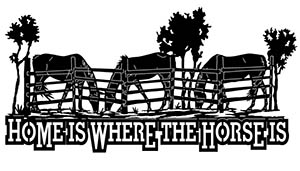 free dxf file home horse sign