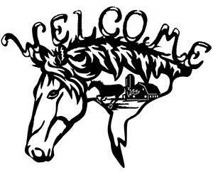 free dxf file welcome horse head
