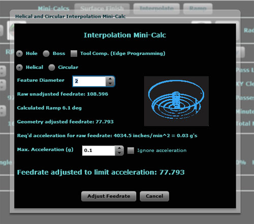 Helical and Circular Interpolation Calculator