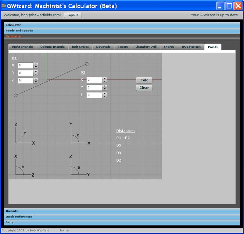 g-wizard machinists calculator geometry