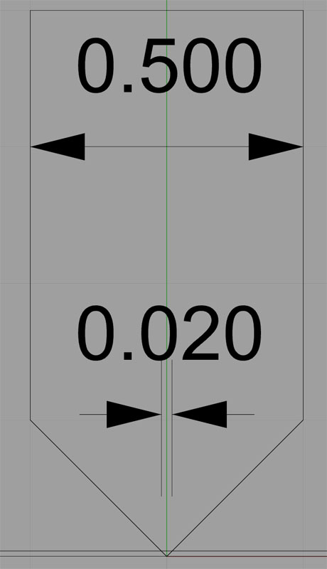 V-Bit Effective Diameter