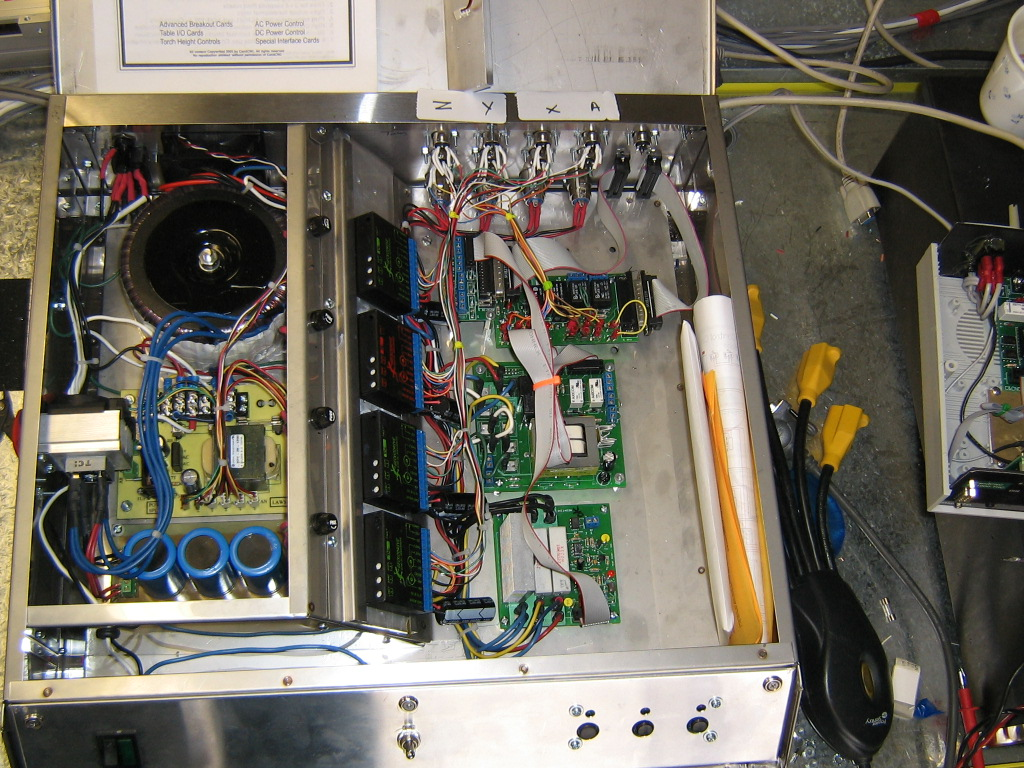 Cnc Cookbook Enclosure Gallery Fuse Relay Box Note The Rail System To Hold Gecko Drives In Middle Around Power Supply Fuses For Each And Controller Boards All Their