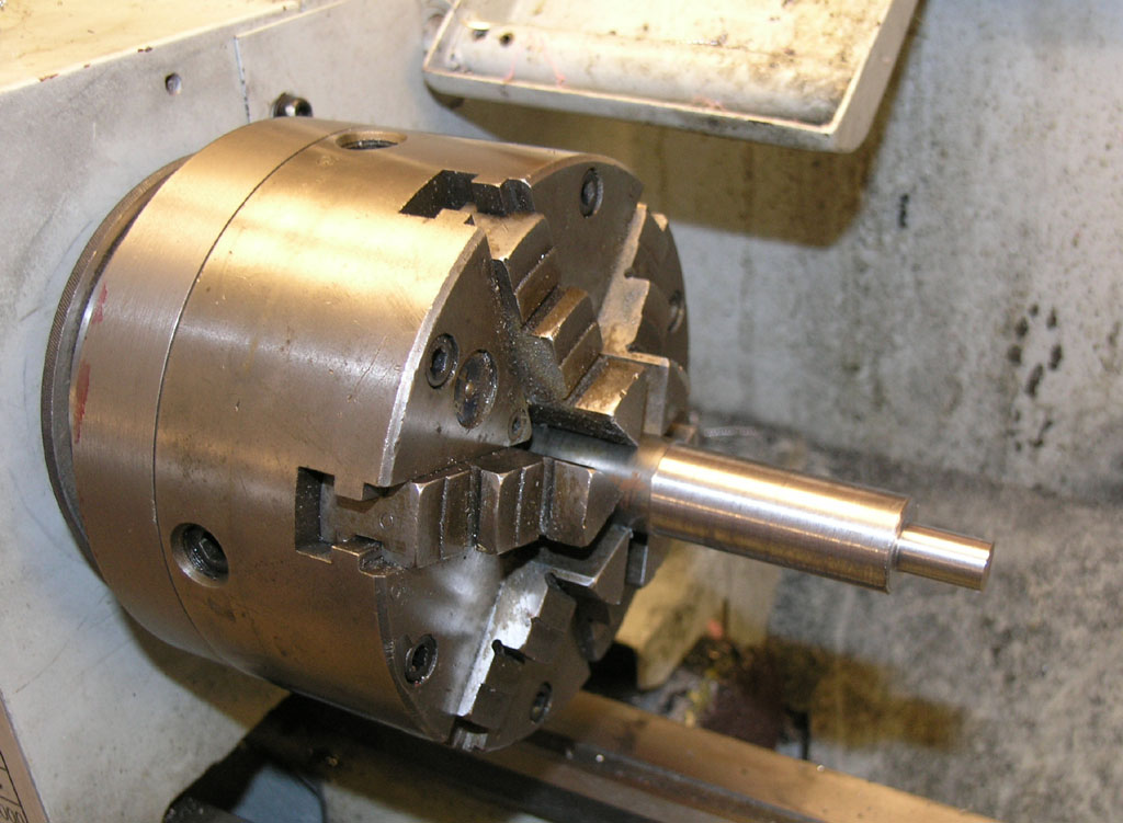 I Started Out Doing An Odd Thing Stuck A Piece Of Junk Stock In The 6 Jaw Turned It True And Then Put Collet 5C Chuck