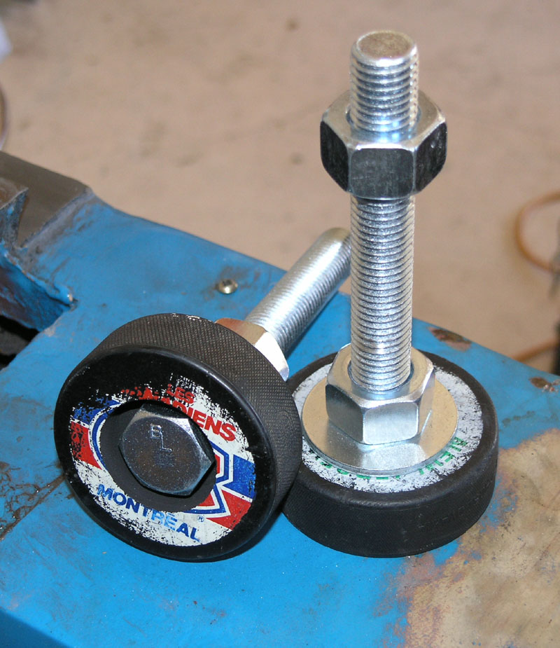 Machine Leveling Mounts : Homemade machinery mounts
