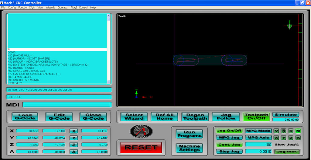 cnccookbook mach3 mill screen set