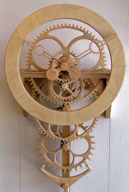 Simplicity Wooden Clock