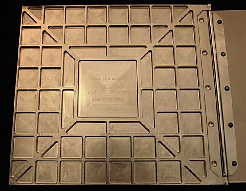 CNC machined photo album