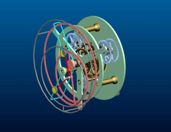 Astronomical Clock CAD drawing