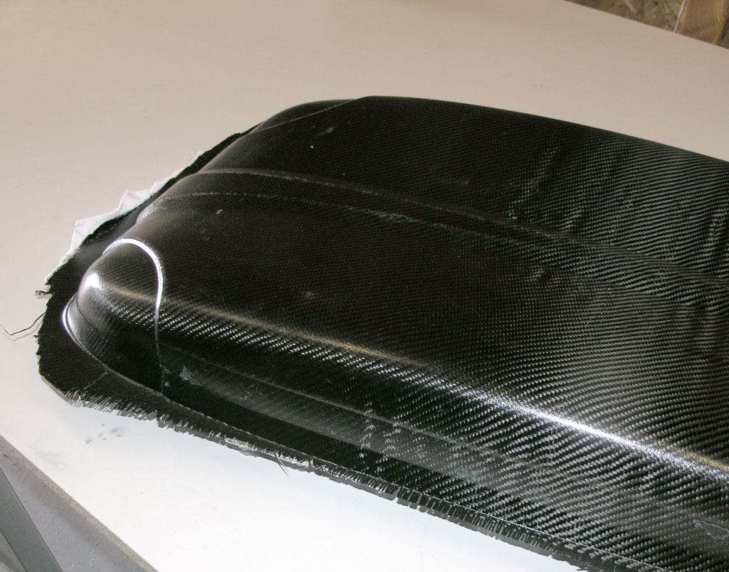 Finished carbon fiber part