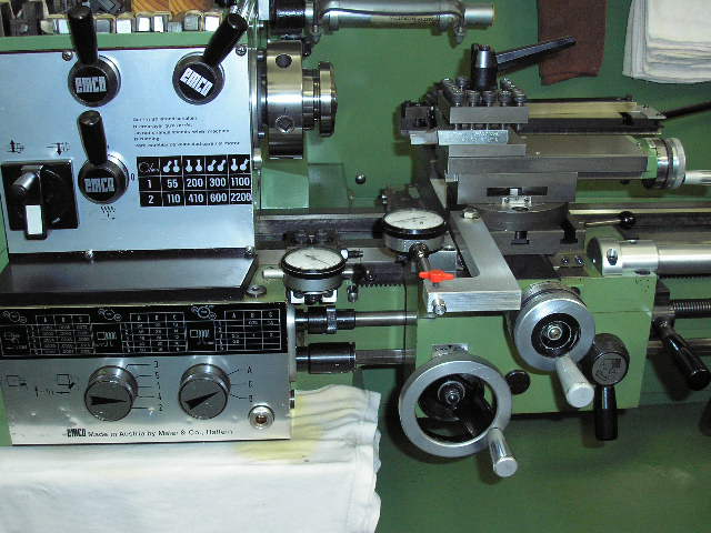 added tenths indicators to both axes of his Emco Maier Compact 11 lathe:
