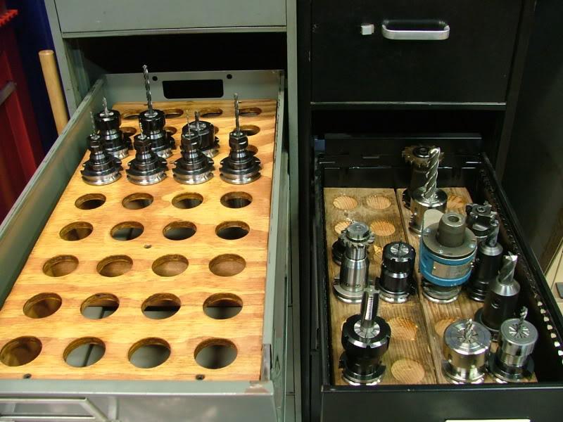 Filing cabinet toolholder storage