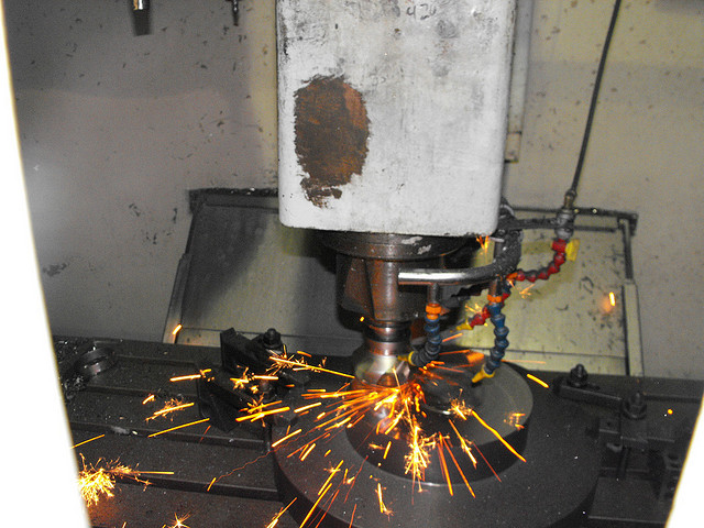Face mill hits a weld