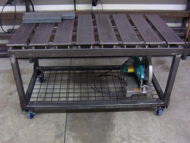 Diy welding table and cart ideas for Plan fabrication table