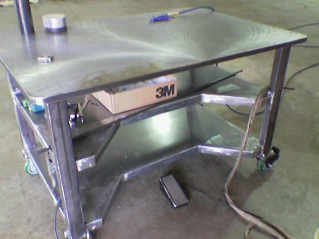 "The pro-welders recommend thick plate on top. This table has 1"" steel ..."