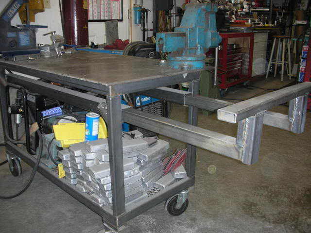 Welding Table Designs 60 x 60 acorn table and my small portable table Diy Welding Table And Cart Ideas