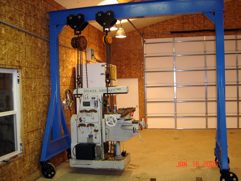 Cnc cookbook blog posts for april thru sep 2007 for Shop hoist plans