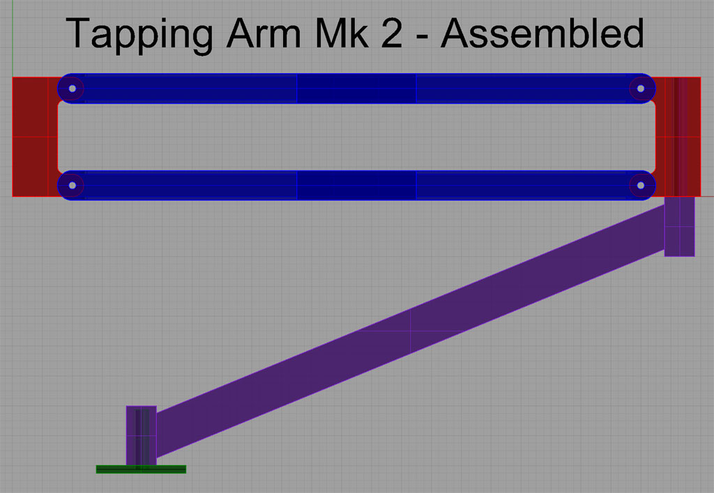 Tapping Arm in Rhino3D